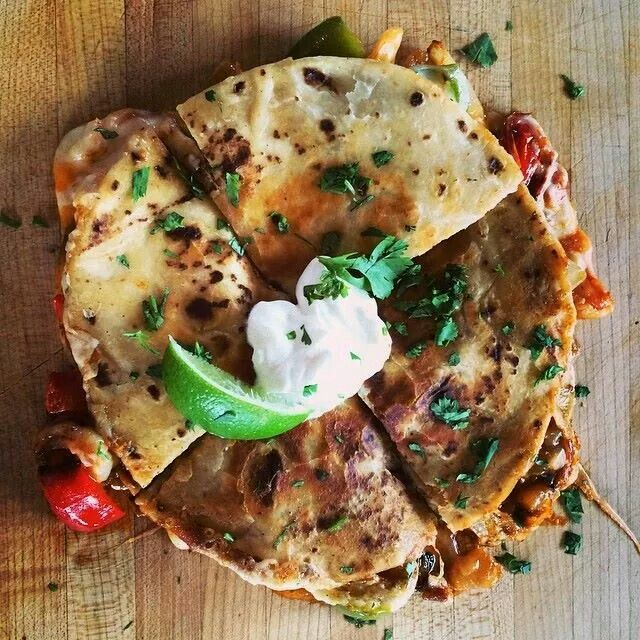Definitely easy and definitely tasty. I found the red sauce at Dollar General and it's simply called Mexican Red Sauce. It is a bit spicy but you can put as much as you like. Shrimp Quesadilla - Pioneer Woman