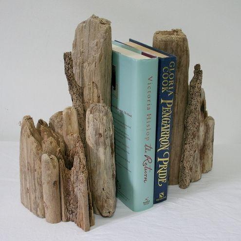 driftwood wood art | DRIFTWOOD BOOKENDS, Drift Wood.Driftwood art, pair - Folksy