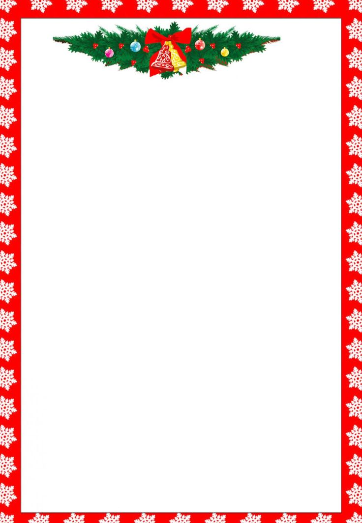 58 best Printable Christmas / Winter Paper images on Pinterest - free paper templates with borders