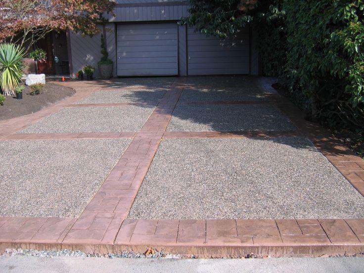 16 best images about driveway ideas on pinterest concrete walkway decorative concrete and. Black Bedroom Furniture Sets. Home Design Ideas