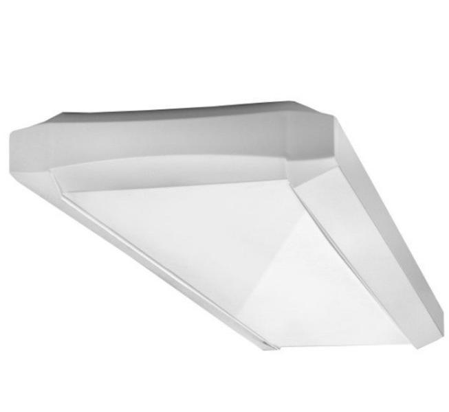 Nowoczesna oprawa nasufitowa 2x14W lub zwieszana na świetlówki T5 o bezpośrednim rozsyle światła z kloszem mlecznym. Standardowe wyposażenie w stateczniki elektroniczne EVG pozwala uzyskać bardzo wysokie parametry oświetlenia. Korpus wykonany z blachy stalowej malowanej proszkowo standardowo w kolorze białym. Końcówki oprawy wykonane z tworzywa ABS odpornego na działanie promieniowania UV. Klosz z poliwęglanu. $43