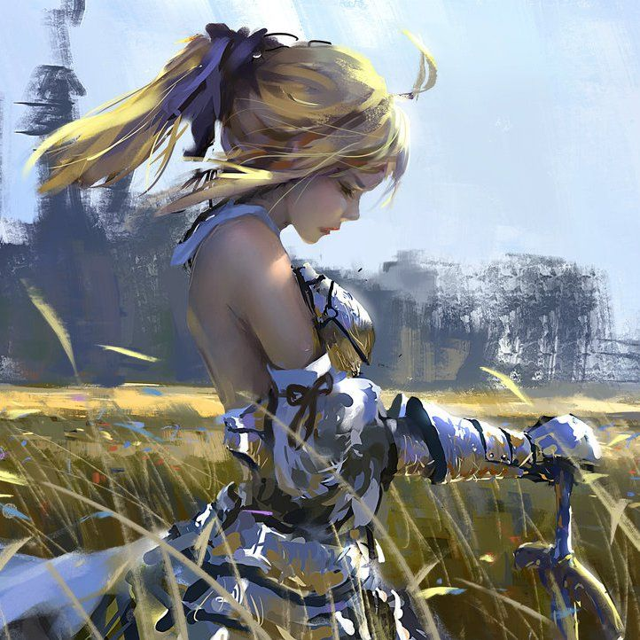 Saber lily by wlop anime fate saber 57 a for Deviantart wlop