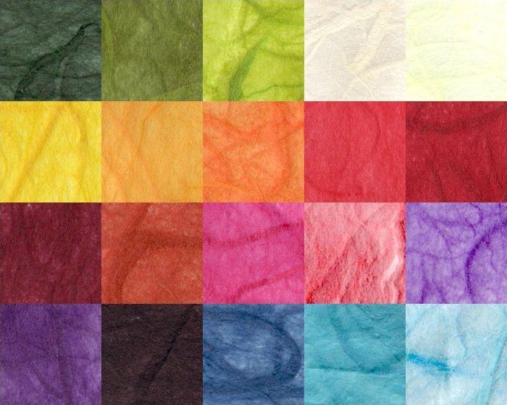 I colori della carta di gelso