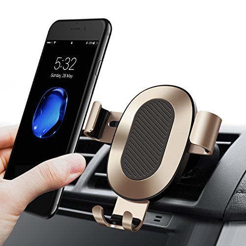 Cell Phone Holder for Car, TORRAS Gravity Auto-clamping Air Vent Car Phone Mount Holder Cradle for iPhone X / 8 / 8 Plus / 7 / 7 Plus, Samsung Galaxy S9 / S9 Plus / S8 / S8 Plus and more – Champagne #Cell #Phone #Holder #Car, #TORRAS #Gravity #Auto #clamping #Vent #Mount #Cradle #iPhone #Plus #Plus, #Samsung #Galaxy #more #Champagne