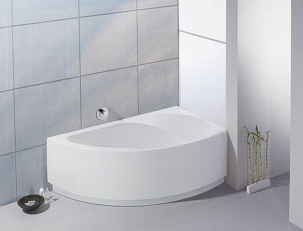 HOESCH Eck-Badewanne Spectra (rechts, mit angeformter Schürze)