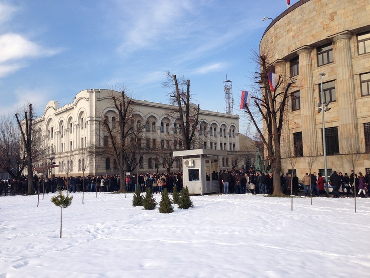 Citizens of Banja Luka, Republic of Srpska, gathered in front of Presidential Palace to welcome famous actress Monica Belluci