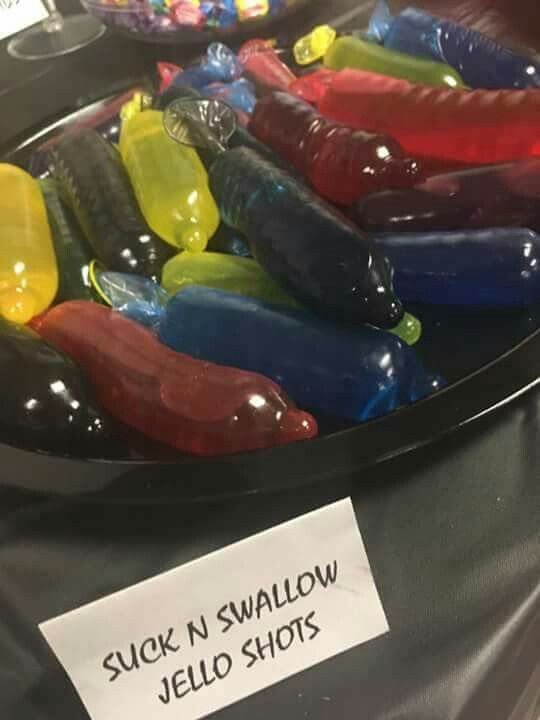 """Suck n swallow"" jello shots"