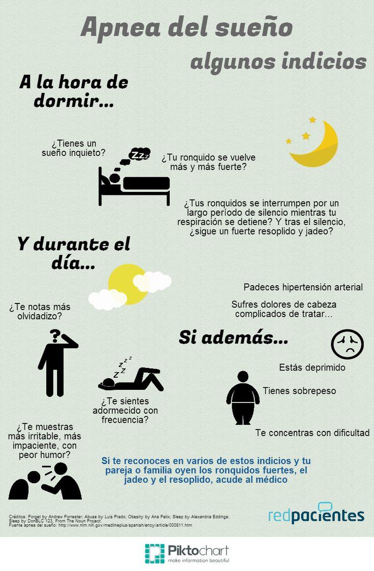 #Apnea del sueño. Una infografía para conocer los primeros indicios.