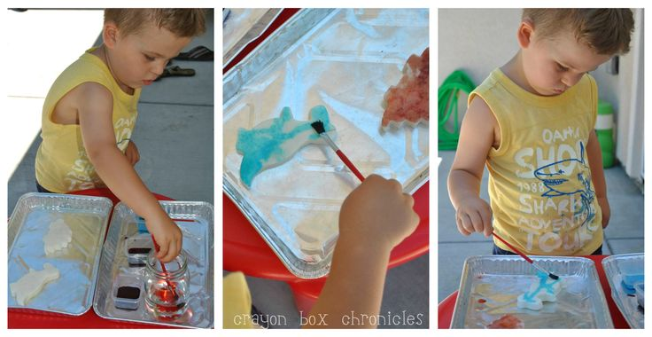 {Dinosaur Craft} SCENTED Watercolor Play Clay by Crayon Box Chronicles