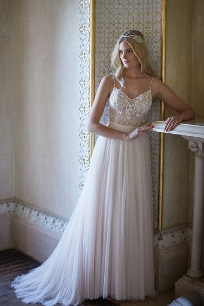 Ella Bodysuit & Amora Skirt in Bride Wedding Dresses at BHLDN