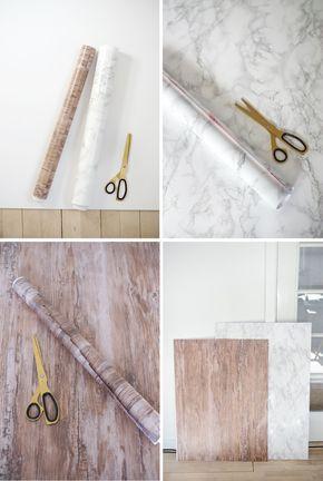 How to Make Homemade Backgrounds for Food and Still Life | Homemade Folio Boards (tutorial via Christina Greve)