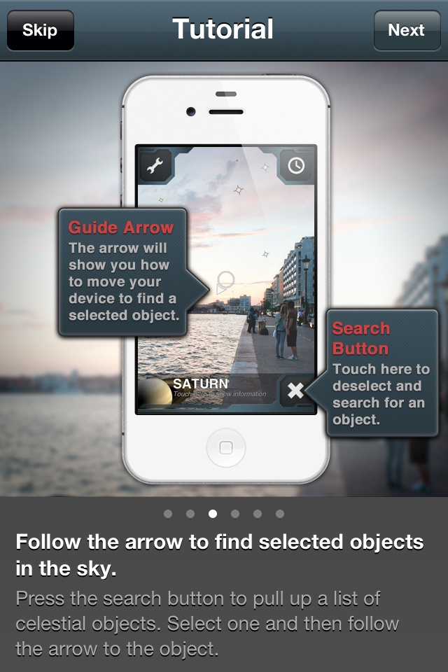 awesome use of technology, with just enough guidance at the top. SkyView iPhone application