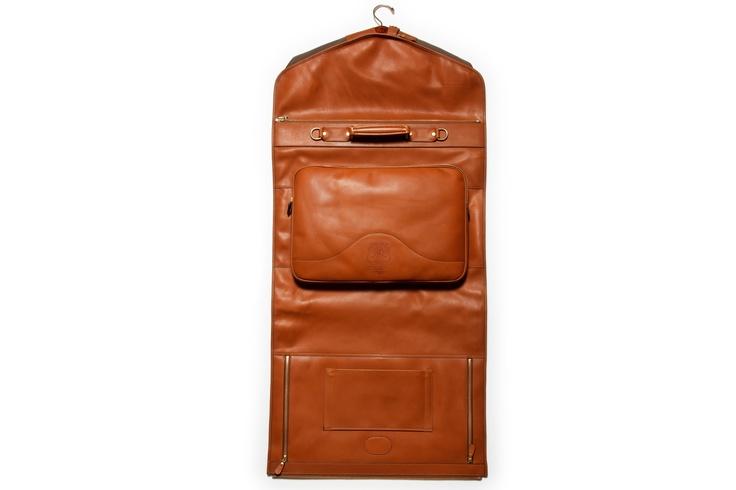 Men's Garment Bag | Packet No. 83 Tan Leather | Ghurka