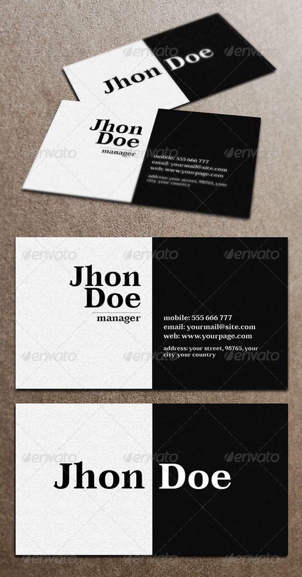1469 best Minimal Business Card Design images on Pinterest | Fonts ...