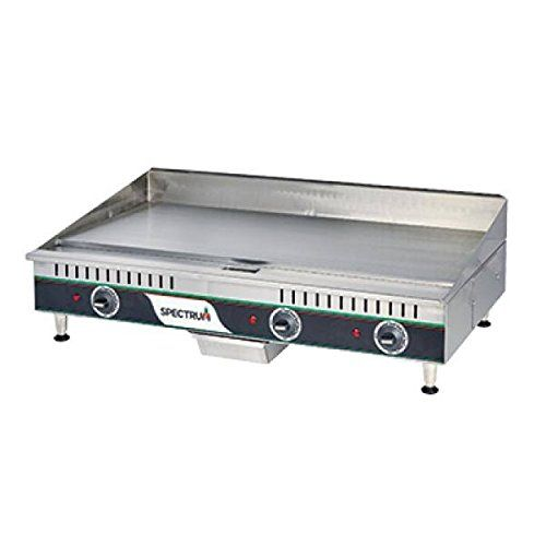 Winco EGD-36, 36-Inch Spectrum Countertop Stainless Steel Electric Griddle
