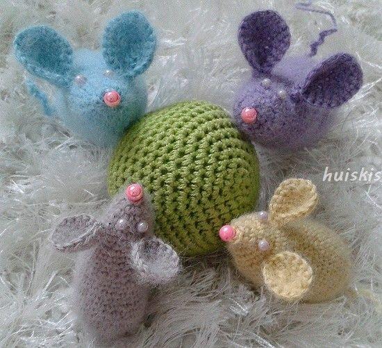 Huiskis: crochet mouse, Drops Alpaca