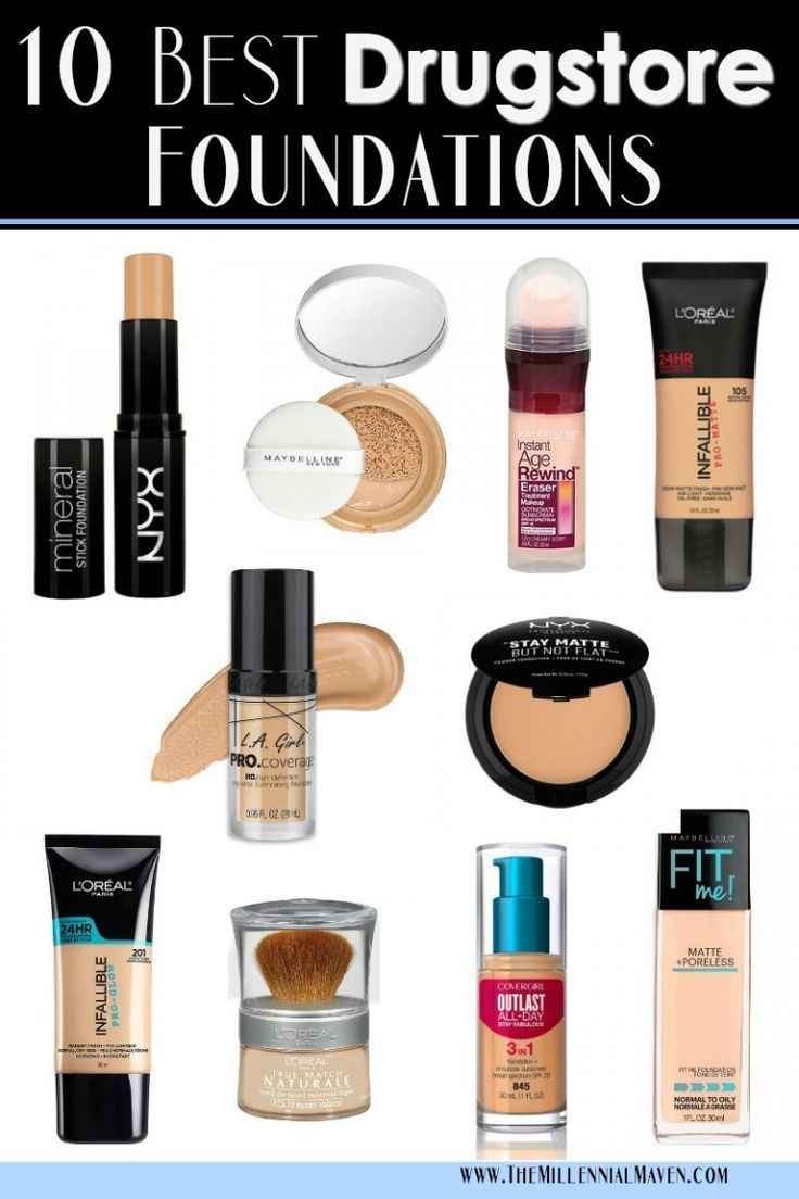 Updated 2020 Top 10 Best Foundations At The Drugstore Best Drugstore Foundations The Millennial Maven Best Drugstore Foundation Best Drugstore Makeup Drugstore Foundation
