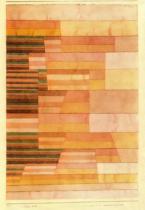 """""""Monument à la frontière du Pays Fertile"""" de Paul Klee (1879-1940, Switzerland)"""