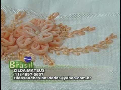 ARTE BRASIL -- ZILDA MATHEUS -- BORDADO DE FLOR ALAMANDA (15/09/2010 - P...