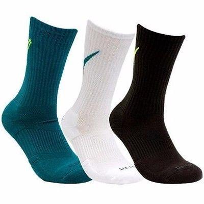 NWT 3 PACK - NIKE DRI-FIT COTTON DFC SWOOSH CREW SOCK SX4950 936 SZ 8-12 #Clothing, Shoes & Accessories:Men's Clothing:Socks ##nike #jordan #girls $10.00