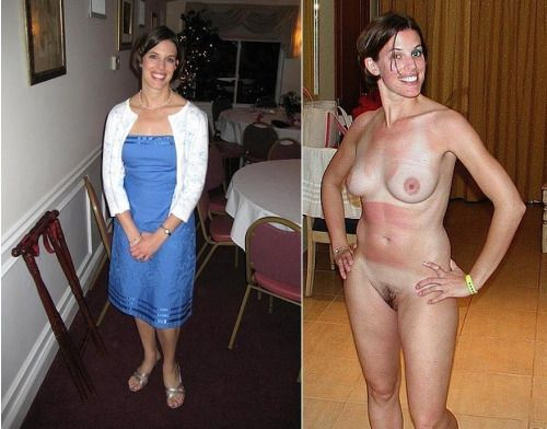 Wives dressed and naked before after congratulate