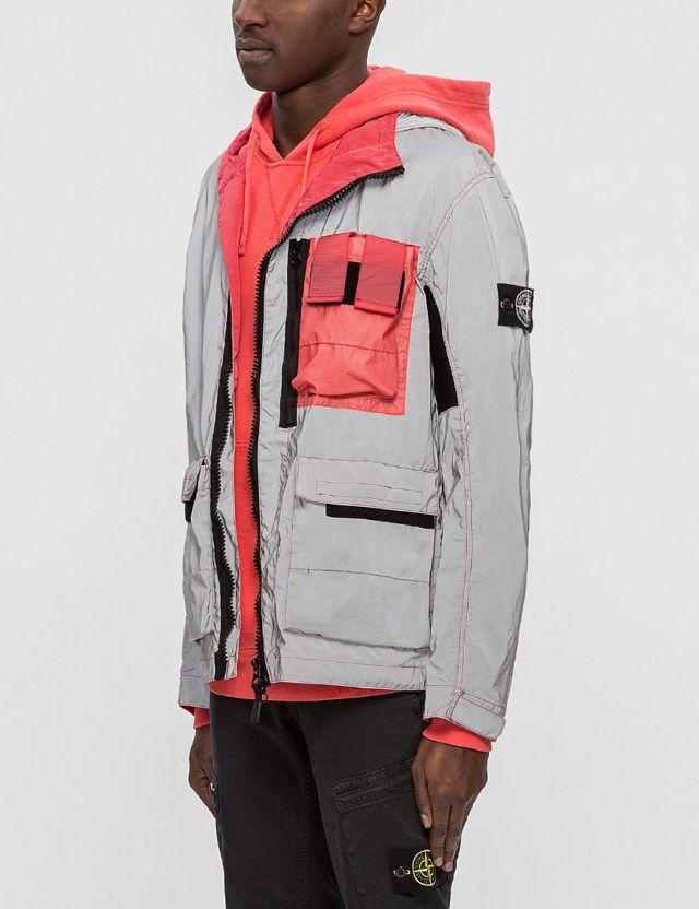 STONE ISLAND Garment Dyed Plated Reflective Jacket