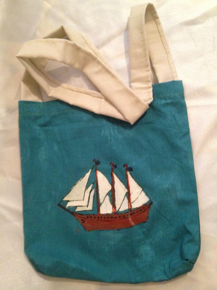 kumaş çanta boyama tasarım
