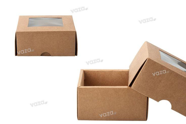 Scatola di imballaggio kraft senza finestra 130 x 120 x 60 mm - 20 pz