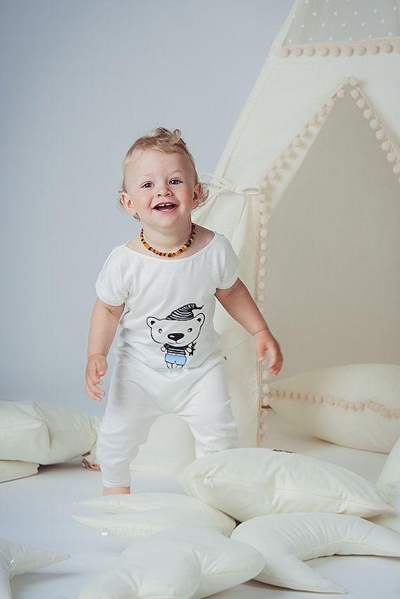 Bambino pigiama orso tuta pigiama per bambini di CotandCot