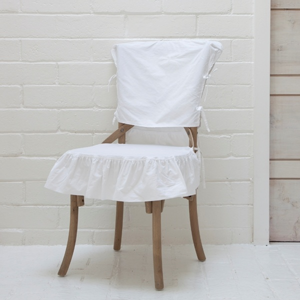 Slipcover for august chair dining room pinterest slipcovers chairs and shabby chic - Shabby chic dining room chair covers ...