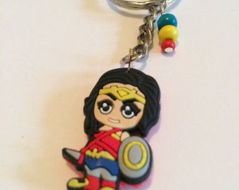 Wonder Woman inspired keyring, Wonder Woman Keychain, Wonder Woman Keyring item 275 by CraftyLittleMonkeyGB