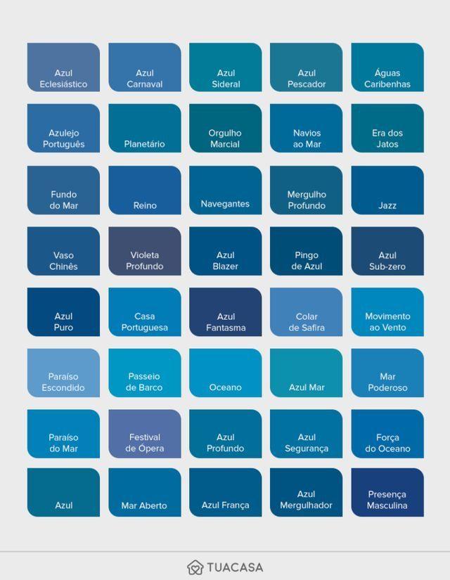 Pin De Michela Mozarela En Decorating Tipos De Azules Tonos De Azul Unas Azules
