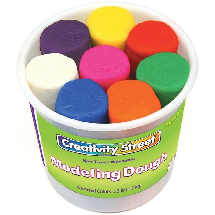 Creativity Street Modeling Dough 4oz 8/Pkg-Assorted Colors - Assorted Colors