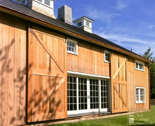 Double Barn Doors Love This Idea To Keep The Windows Covered During Winter