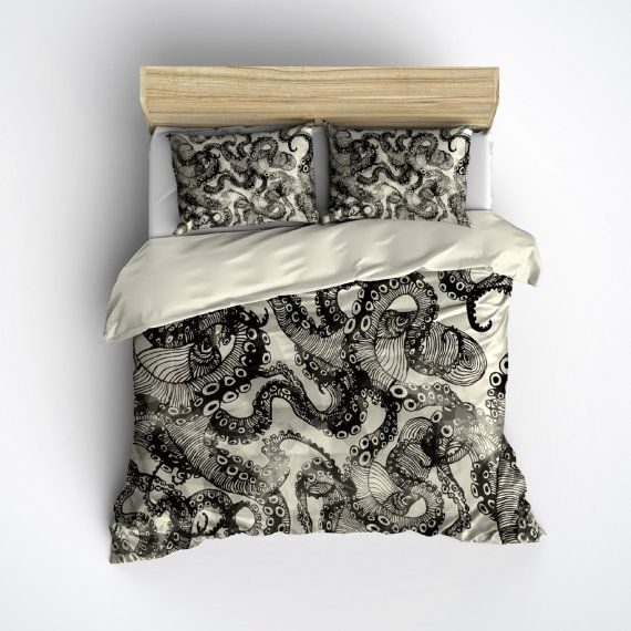 Hey, I found this really awesome Etsy listing at https://www.etsy.com/listing/246076623/featherweight-octopus-bedding-cream