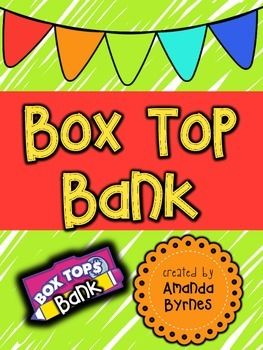 Have fun collecting Box Tops for your school using a cute Box Top bank!Simply…