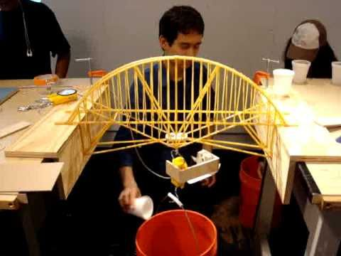 26 best spaghetti bridge designs images on pinterest bridges nyit structures professor martin build a bridge using pasta to span 24 inches with 3 inches to support on both ends total length of bridge is to be 30 malvernweather Choice Image