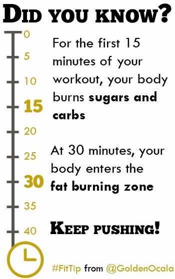 Did you know that the first 20-30 minutes of cardio are useless? #weightloss #fitness