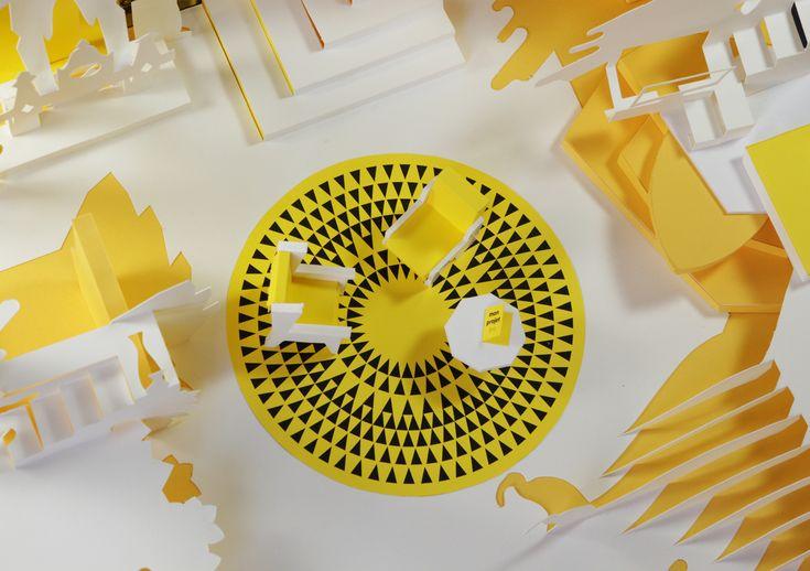 Pop-up vu de dessus pour le film des vœux 2017 d'ineolab – paper motion