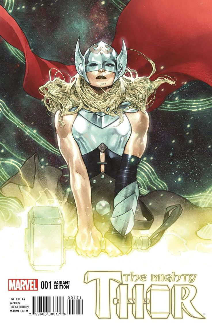 The Mighty Thor #1 (post Secret Wars) variant cover by OLIVIER COIPEL