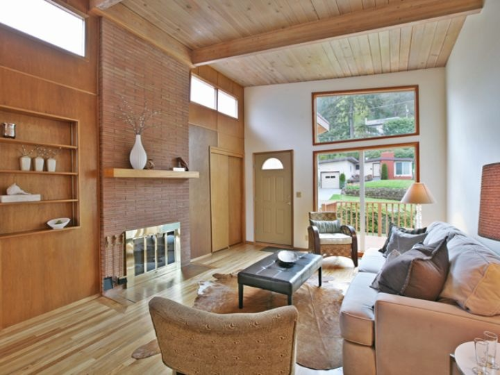 105 best images about atomic ranch renovation ideas on for Ranch style living room