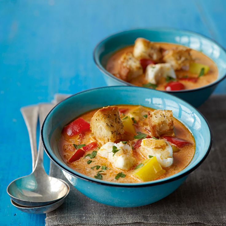 This vibrant fish soup recipe from actress, Meera Syal, makes a big portion – freeze what you don't eat and defrost for a lazy midweek dinner.