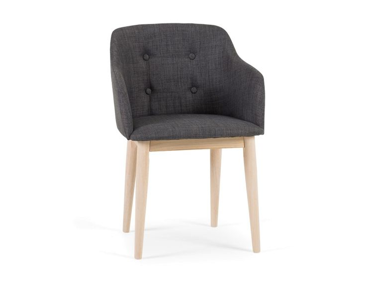 Kelby is everything you could want in a dining or occasional chair. Warm, neutral upholstery with menswear-inspired fabric and detailing? Check.