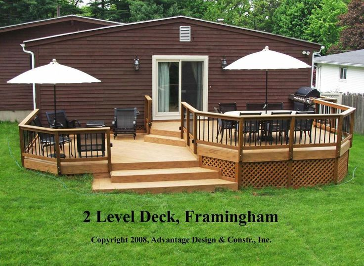 After Two Level Deck In Framingham Ma Outdoors Pinterest