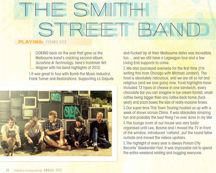 The Smith Street Band - Triple J Magazine
