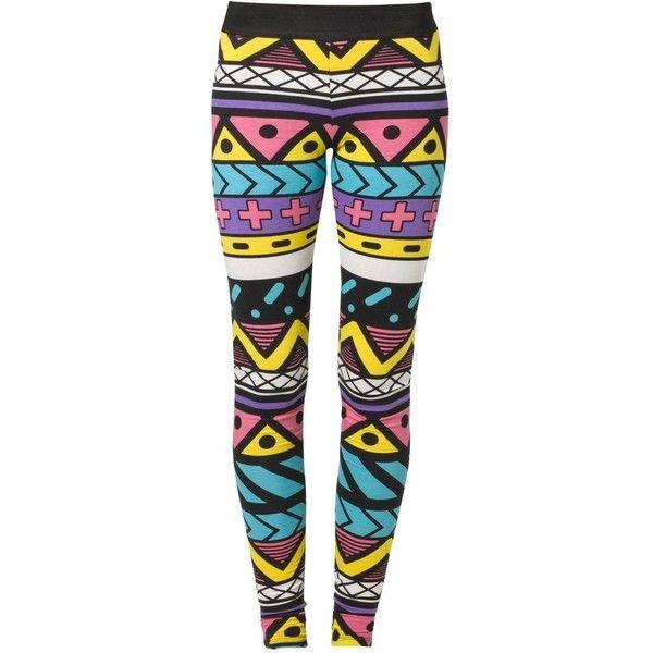 Fairground AZIBO Leggings (€67) ❤ liked on Polyvore featuring pants, leggings, bottoms, jeans, pantalones, multicoloured, women's trousers, cotton pants, cotton trousers and multi colored pants