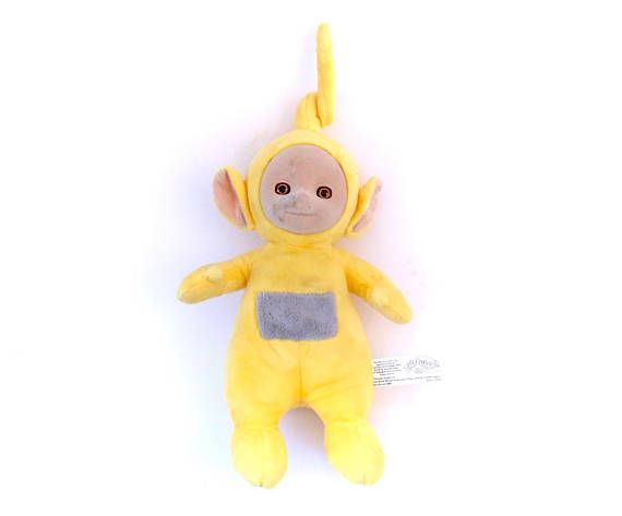 Vintage Yellow Teletubby Laa Laa Teletubbies Plush Doll!  Follow Me & Use The Coupon Code PINTEREST For 10% Off Your ENTIRE Order! Dozens of G1 My Little Ponies, Polly Pockets, Popples, Strawberry Shortcake, Care Bears, Rainbow Brite, Moondreamers, Keypers, Disney, Fisher Price, MOTU, She-Ra Cabbage Patch Kids, Dolls, Blues Clus, Barney, Teletubbies, ET, Barbie, Sanrio, Muppets, Sesame Street, & Fairy Kei!