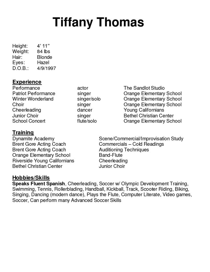 25  unique acting resume template ideas on pinterest