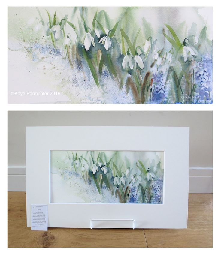 Lovely watercolor snowdrops by Kaye Parmenter Artist
