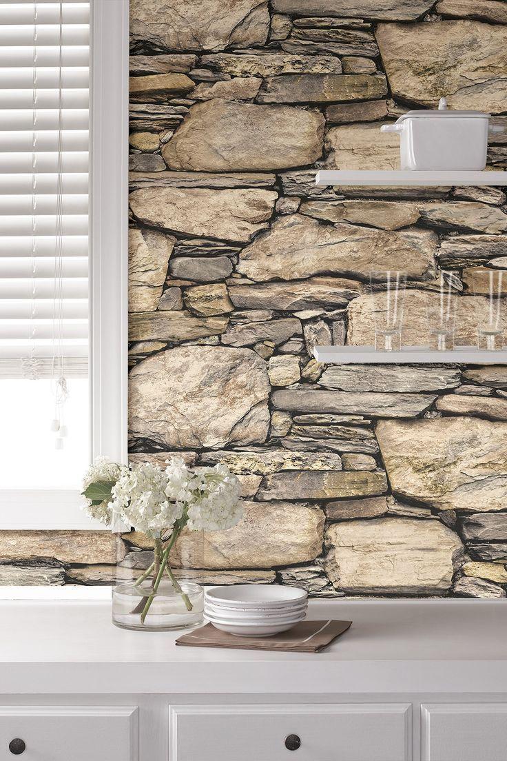 Hadrian Stone Reusable Peel & Stick Vinyl Wallpaper